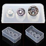 Molde de silicona con espejo para hacer collares y pulseras, bricolaje, joyería, decoración de pasteles de resina UV