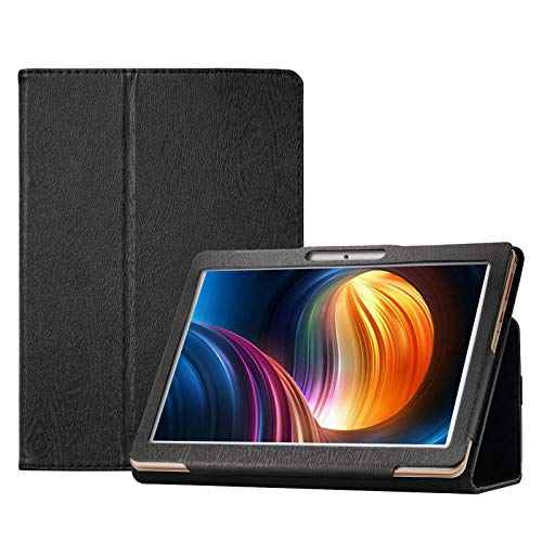 Transwon 10 Inch Tablet Case for Dragon Touch Max10/K10, ZONKO 10, Victbing/Winsing/Hoozo/Wecool/Allmeida/MEIZE/Tabtrust/Foren-Tek/Ansxiy/ANTEMPER/BATAI 10 Inch Tablet, Feonal Tablet 10 Inch - Black