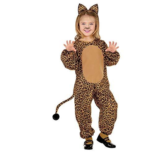 WIDMANN - Disfraz de leopardo para niños, multicolor, 110 cm/3 – 4 años, 36609