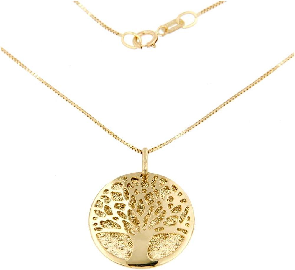 Lucchetta gioielli parure  collana piu` orecchini donna con albero della vita in oro 4P5030MLA (3 grammi)