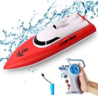 Tonason 2.4 GHz 12KM/H Remote Control Boat for Pools and Lakes
