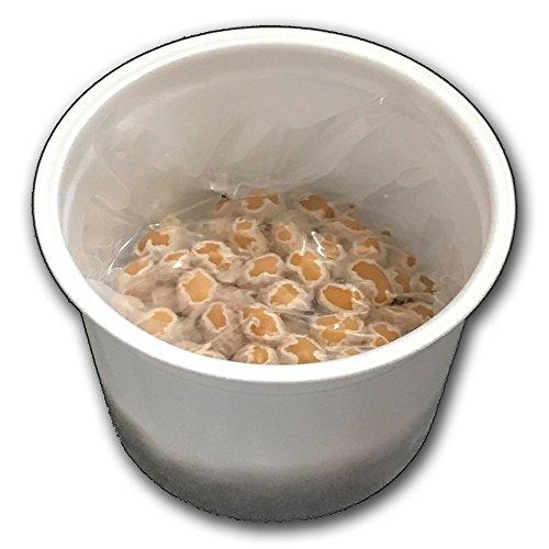 業務用【北海道産】朝食用カップ納豆 40g×15個(タレ付き) 冷凍保存可