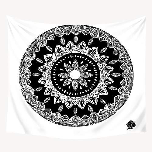 N / A Böhmische Mandala Wandteppich Wandhalterung Mond und Stern Tarot Wanddekoration Schwarzer Wandteppich Wohnkultur Großer Wandteppich A7 73x95cm