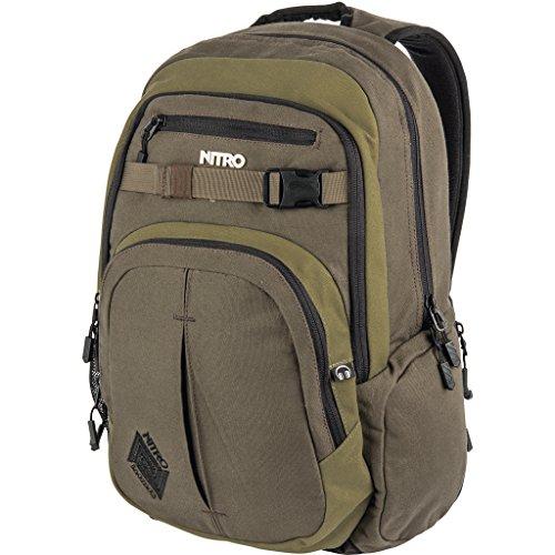 Nitro Chase Rucksack, Schulrucksack mit Organizer, Schoolbag, Daypack mit 17 Zoll Laptopfach, Smoke