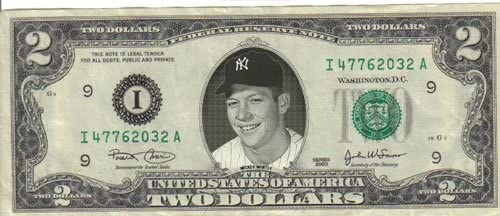Japan Maker New Yankees Mickey Mantle $2 $1 Mint Albuquerque Mall Rare