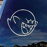 SoCoolDesign Mario Character Cartoon Boo Car Window Vinyl Decal Sticker 4' Wide (White)