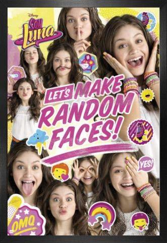 Soy Luna Póster con Marco (Madera DM) - Let's Make Random Faces (91 x 61cm)
