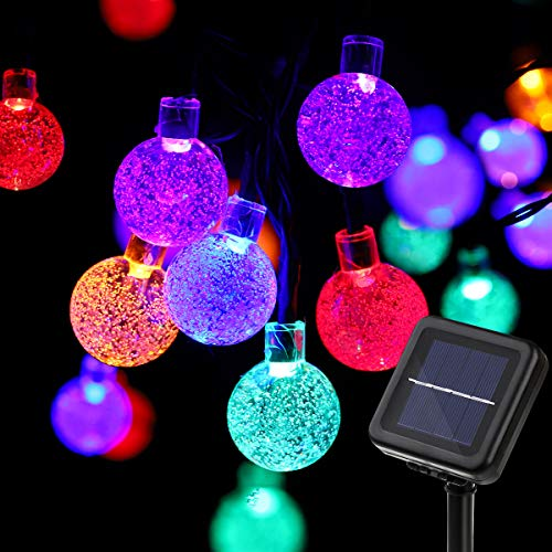 YUNLIGHTS Solar String Lights, 19.7feet 40 LED Globe Fairy Lights with 8 Modes, Outdoor Waterproof Solar Powered Lights for Patio, Garden, Lawn, Path, Party and Home Decorations, Multi Color