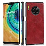 Funda de teléfono de cuero delgado extremista [soporte de carga de radio] Tapa protectora de goma Soft TPU a prueba de golpes para Huawei Mate 30 Pro, Case para Huawei Mate 30 PRO ( Color : Red )