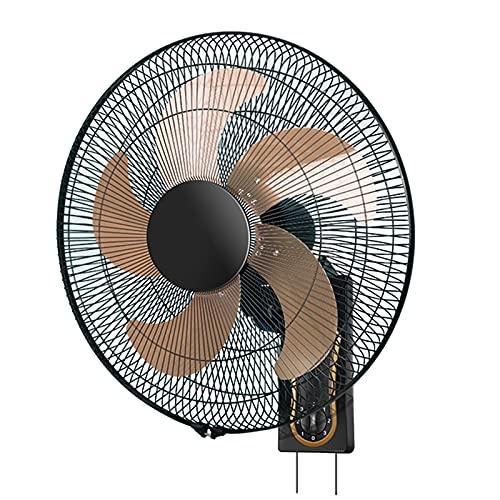 DBGA Ventiladores de Pared con 5 Aspas, 3 Velocidades, Oscilantes & Inclinación Ajustable, Ventilador Industrial de Montaje en Pared para Dormitorio, Oficina, Almacén (Control Remoto/Mecánico)