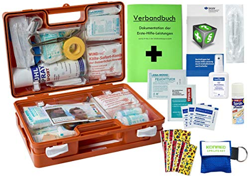 *WM-Teamsport Sport-Sanitätskoffer S2 Plus Erste-Hilfe Koffer nach DIN 13157 + DIN 13164 + Sport-Ausstattung INKL. Sprühpflaster*