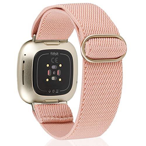 TOYOUTHS Armband Kompatibel mit Fitbit Versa 3 Armband / Fitbit Sense Armband, Nylon Geflochtenes Solo Loop Armband für Damen Herren, Sport Uhrenarmband für Fitbit Versa 3/Sense
