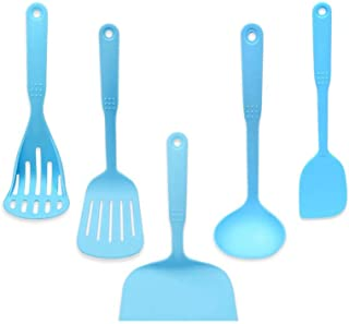 WZHZJ Silicone Kitchenware Non-Stick Cookware Cooking Tool Spatula Ladle Shovel Spoon Soup Kitchen Utensils Set