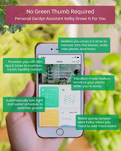 Gardyn Home Indoor Smart Garden  -  WiFi集成垂直园艺套件与基于AI的App  -  2020年最佳发明杂志 -  30植物能力自动水耕高温系统