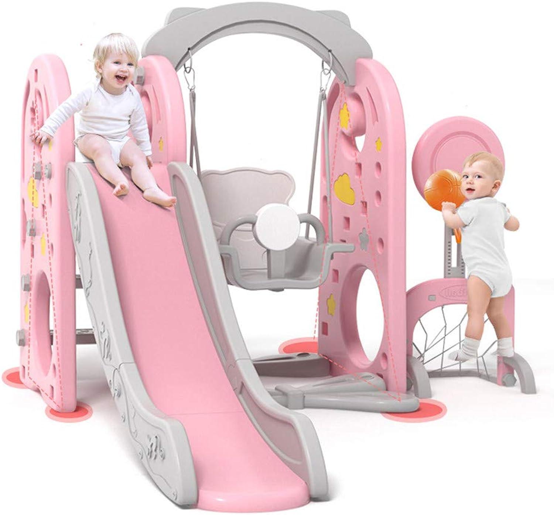 Kinder Spielplatz Schaukel mit Rutsche und Basketballkorb Kombination für Indoor Outdoor Garten Rutschbahn Kinderschaukel