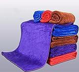 JISHUQICHEFUWU Lavado de Coches Alquiler de paño de microfibras para Limpiar Car Wash servilletas de Tela Suministros, marrón,30 * 40cm.