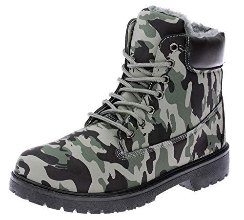 Dvina Herren Winterstiefel Camouflage Boots Stiefel Winterschuhe Herrenschuhe 3142 Grün 44