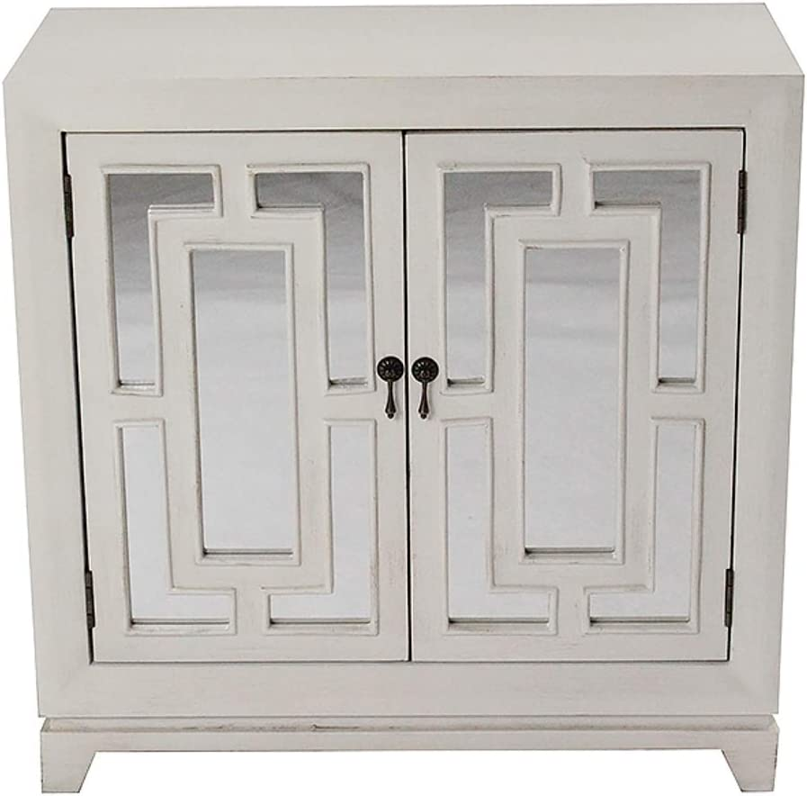 HomeRoots Kitchen Cabinet with 2 Hand Brand Cheap Sale Venue Sales results No. 1 and In Front in Cut Carved