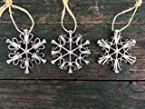 Snowflake Equestrian Ornament made from Authentic Horseshoe Nails, HANDMADE in NEW HAMPSHIRE, USA