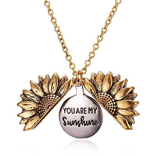 PicZhiwenture Collares Colgantes de suéter Cadena clavicular Collar de Perlas de Girasol para Mujer Accesorios de Ropa Sun Flower Collares Pendientes Joyas de Boda Regalos-36