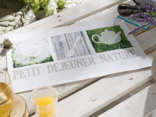 CALITEX PTIT DEJ Nature, PVC, Blanc, 44x28 cm