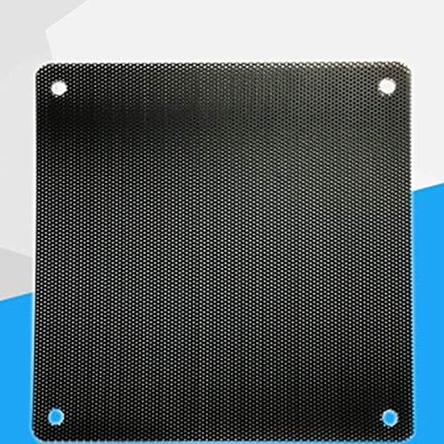 Ling Ling JIU-UK Ventilador de chasis de Primera Calidad Cubierta de Red a Prueba de Polvo Red de filtración de Polvo práctica para el Ventilador del Host de la computadora - Negro