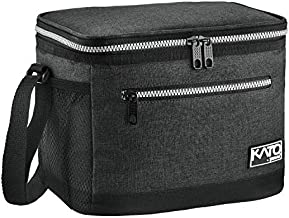 Insulated Lunch Bag for Women Men, Leakproof Thermal Reusable Lunch Box for Adult & Kids by Tirrinia, Lunch Cooler Tote for Office Work, Charcoal