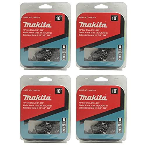 Makita 199075-5 10 in Saw Chain 3/8 in .043 in for XCU06Z - 4 Pack
