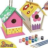 YUET DIY Kit de casa de pájaros,Casas de pájaros para niñas y...