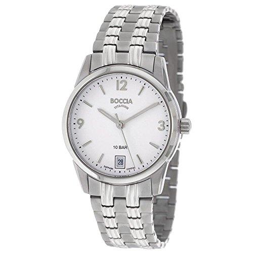 Boccia Damen Analog Quarz Uhr mit Titan Armband 3272-03