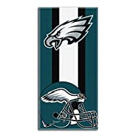 "Officially Licensed NFL Philadelphia Eagles ""Zone Read"" Beach Towel, 30"" x 60"", Multi Color"