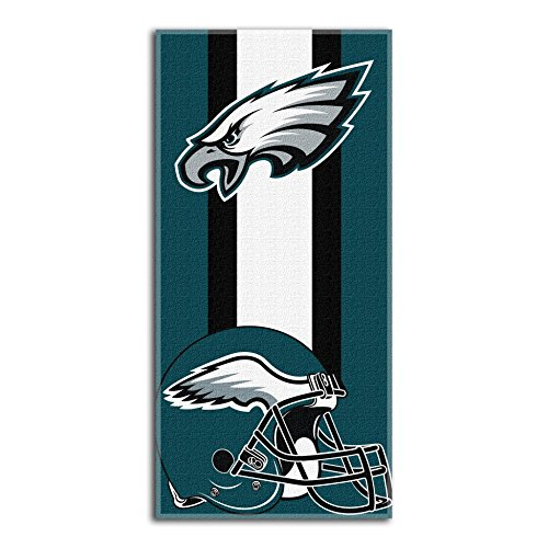 The Northwest Company NFL Philadelphia Eagles 'Zone Read' Beach Towel, 30' x 60' , Green