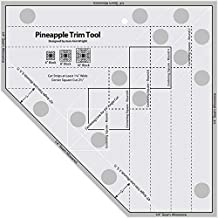 Pineapple Trim Tool Standard Sewing and Quilting Ruler for 6,8,10inch Creative Grid & Blocks (Standard)