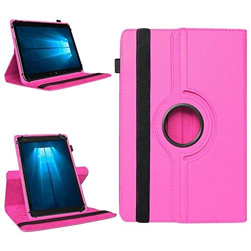 NAmobile Tablet 360° Drehbar Hülle für Odys Wintab Ares 9 Tasche Schutzhülle Hülle Cover, Farben:Pink