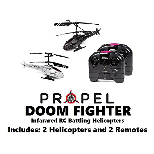 Propel Doom Fighter 2.4GHz 2.5CH RC Battling Helicopters, 2 Helicopters and 2 Remotes
