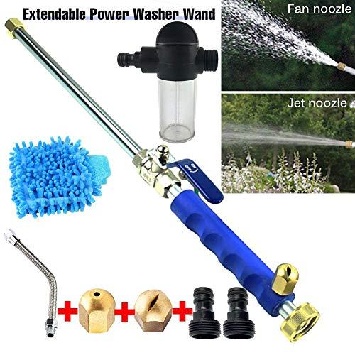 FGGSD Kit di idropulitrice a Pressione idrogetto, ugello per Tubo dell'Acqua di aggiornamento, spruzzatore per Tubo da Giardino, Getto per irrigazione per Lavaggio Auto e vetri di casa