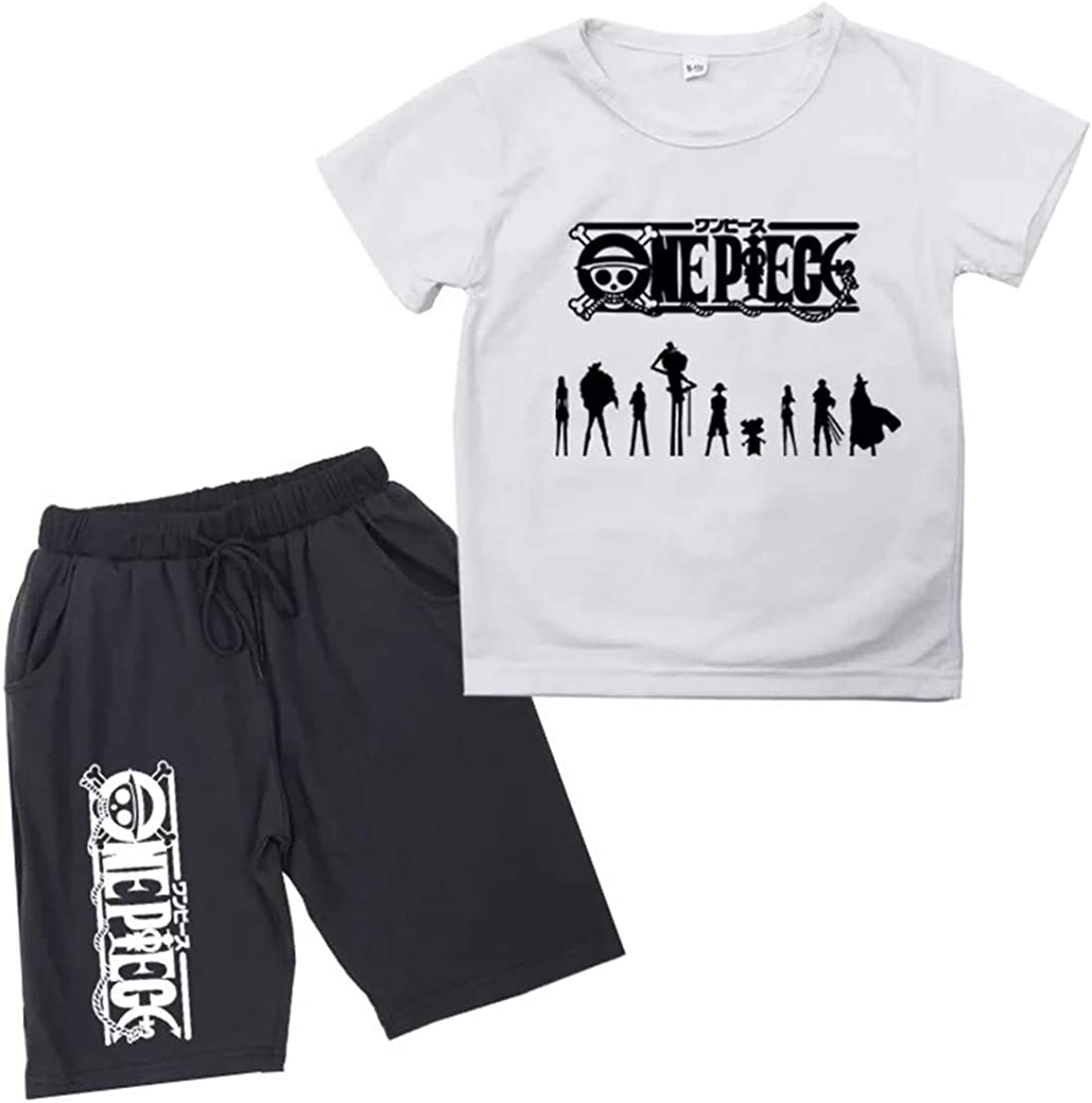 XMTIHE Kids Child One Piece Short Sleeve Tee Shirt-Crewneck T-Shirt+Shorts Set for Boys Girls