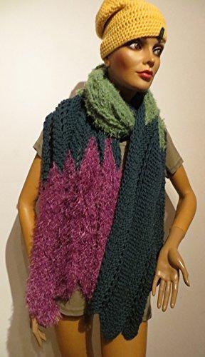 Schal handgestrickt breit bzw. Tuch - Unikat
