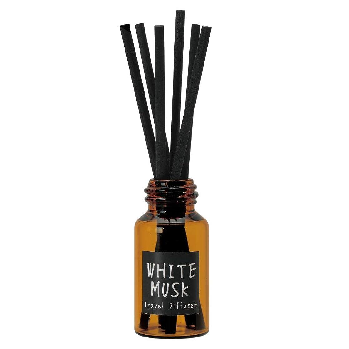 一握り滅びる古風なノルコーポレーション リードディフューザー JohnsBlend トラベルディフューザー 携帯用 ホワイトムスクの香り OA-JON-16-1