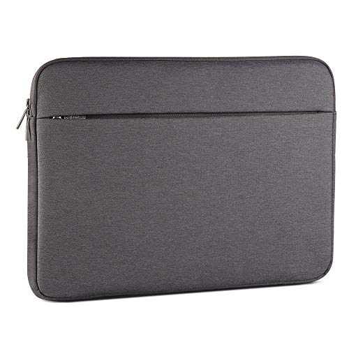 Laptop Sleeve 15.6 Inch, AtailorBird Notebook Protective Bag Carrying Case Water-Repellent with Accessory Pocket for Ultrabook Tablet Cover Case, Dark Grey