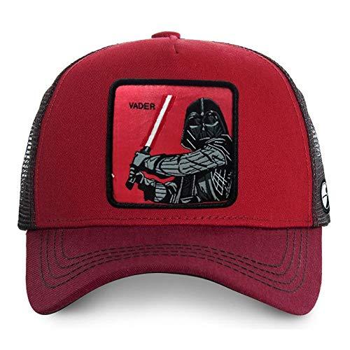Star Wars: Vader, gorra de béisbol, casquillo del verano de malla, Cap Wild informal, ajustable, transpirable, Verano Sombrero de sol, al aire libre se divierte el casquillo de Sun ( Color : Si )