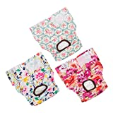 CuteBone Dog Diapers Female Large 3 Pack for Doggie D14L