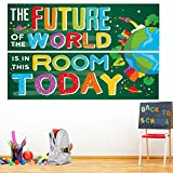 2 Pack Classroom Banner Poster Decorations for Teachers - Positive Banner Inspirational Growth Mindset Flag Educational Sign for Students, Motivational Bulletin Board and Wall Decor for School (Green)