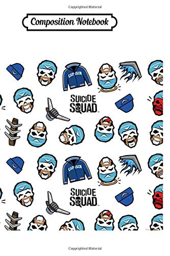 Composition Notebook: Suicide Squad Captain Boomerang Emoji Pattern Harley Quinn Trending Dc Comics Journal/Notebook Blank Lined Ruled 6x9 100 Pages
