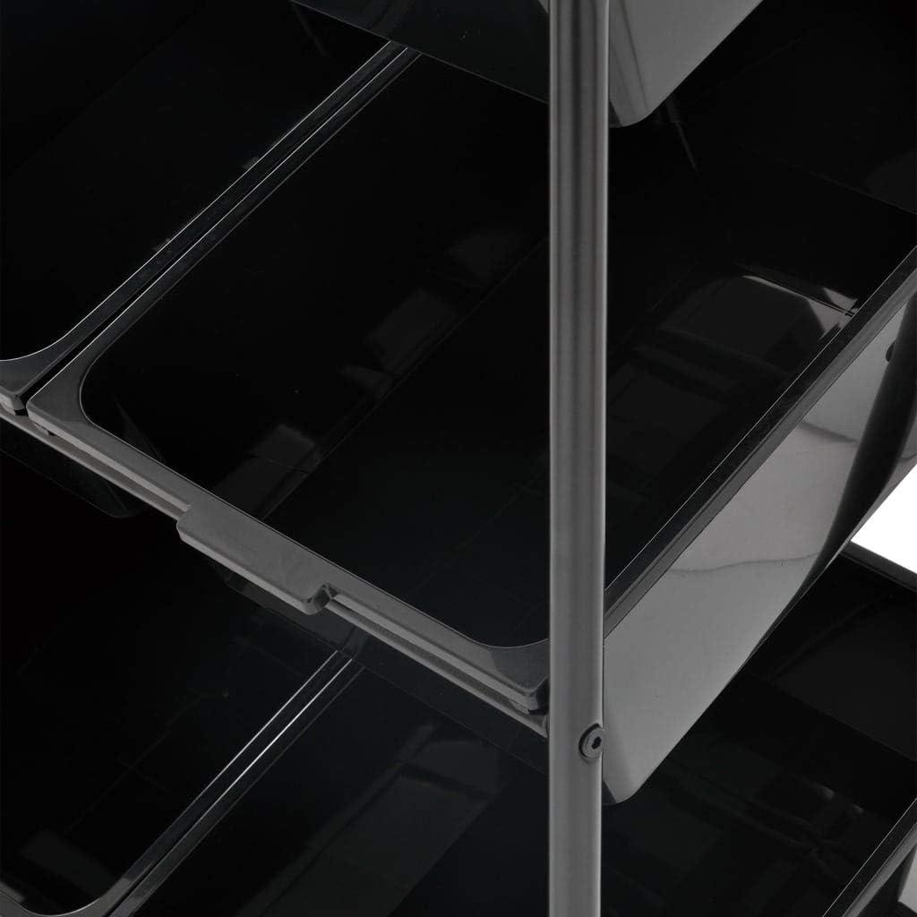 UnfadeMemory Carrello con 6 Cesti Porta Giocattoli Bianco in Plastica