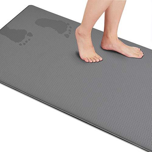 Anti Fatigue Mat Kitchen Cushioned Waterproof Kitchen Floor Mat Comfort Non Slip Standing Rug 18' (W) x 30'(L),Grey