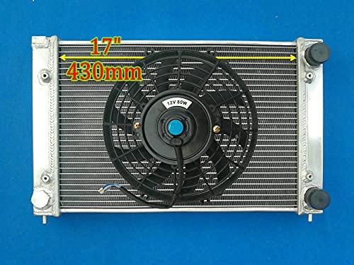 H = 430 mm radiador de aluminio + ventilador para V-W Golf GTI Je-tta MK2 y Corrado Scirocco Coupe 1.6l y 1.8l 16V 1986-1995 MT