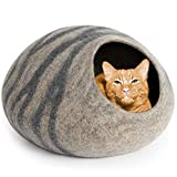 A cozy cat cave gives your kitty a fun place to hide.
