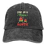 One in A Melon Auntie - Gorra de béisbol unisex con diseño de sandía, color negro