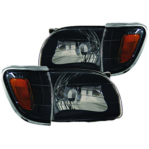 Sold in Pairs Anzo USA 221097 Nissan Maxima Black Tail Light Assembly